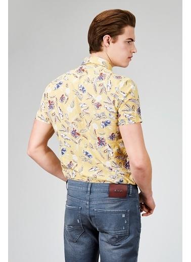 Avva Çiçek Desenli Uzun Kollu Gömlek Sarı
